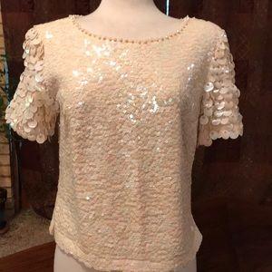 1960's VTG Miss Ruth Hong Kong sequined blouse
